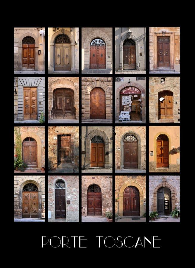 Variaty van oude Toscaanse Deuren royalty-vrije stock afbeelding