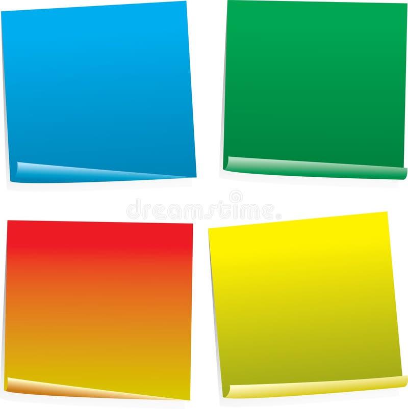 Variazione della colonna del post-it illustrazione vettoriale