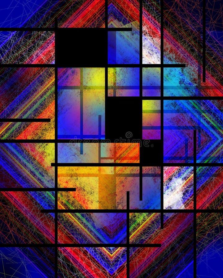 Variazione di Mondrian royalty illustrazione gratis