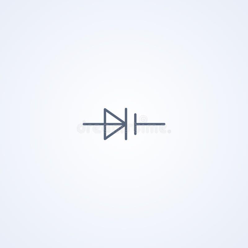 Varicap, vector beste grijs lijnsymbool vector illustratie