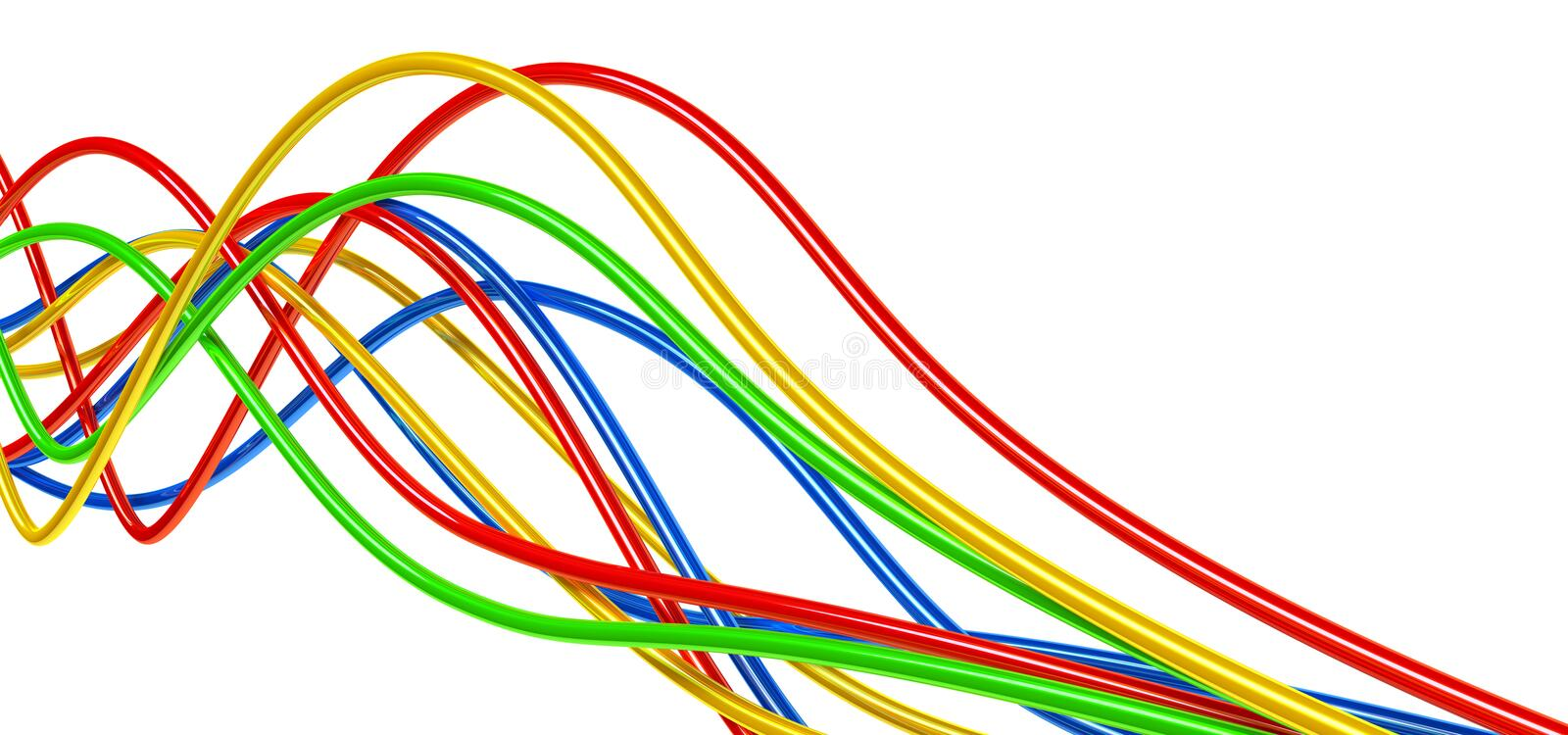Varicolored cables royalty free illustration