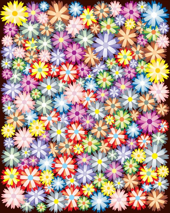 varicoloured blom- prydnad vektor illustrationer