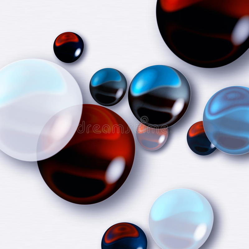 Varicoloured marbles royalty free illustration