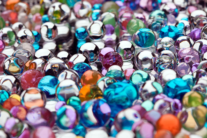 Varicoloured marbles royalty free stock photography