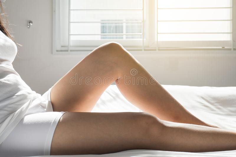 Varicose veins on the woman leg or foot,Body and health care concept,Selective focus. Varicose veins on the woman legs or foot,Body and health care concept royalty free stock photos