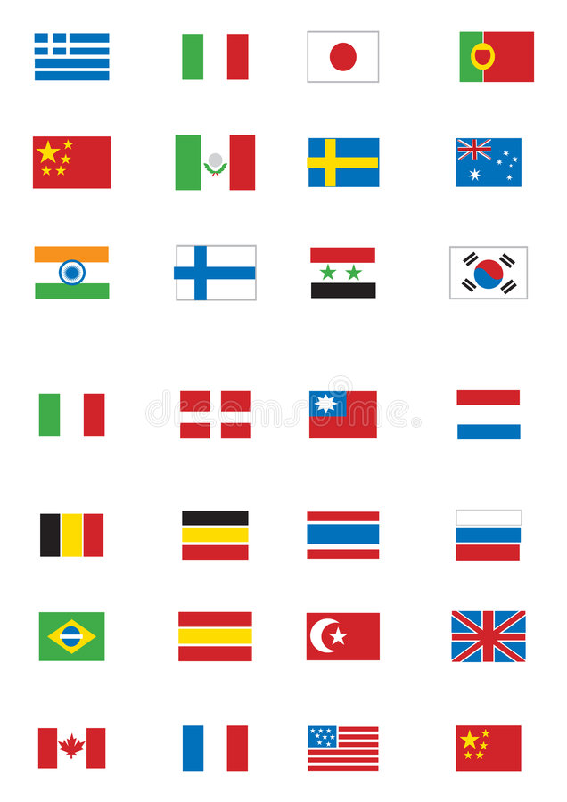Varie bandierine illustrazione vettoriale