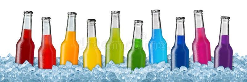 Varie bevande in ghiaccio tritato fotografie stock libere da diritti