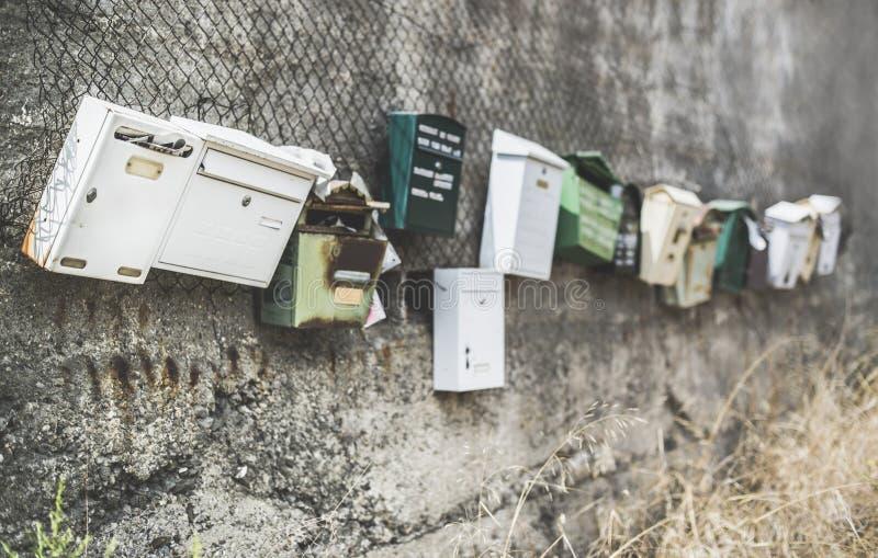 Varie cassette delle lettere fotografia stock libera da diritti