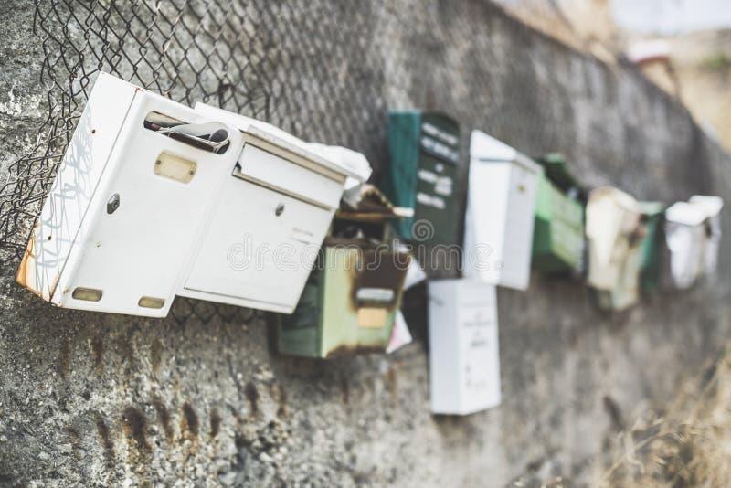 Varie cassette delle lettere fotografia stock