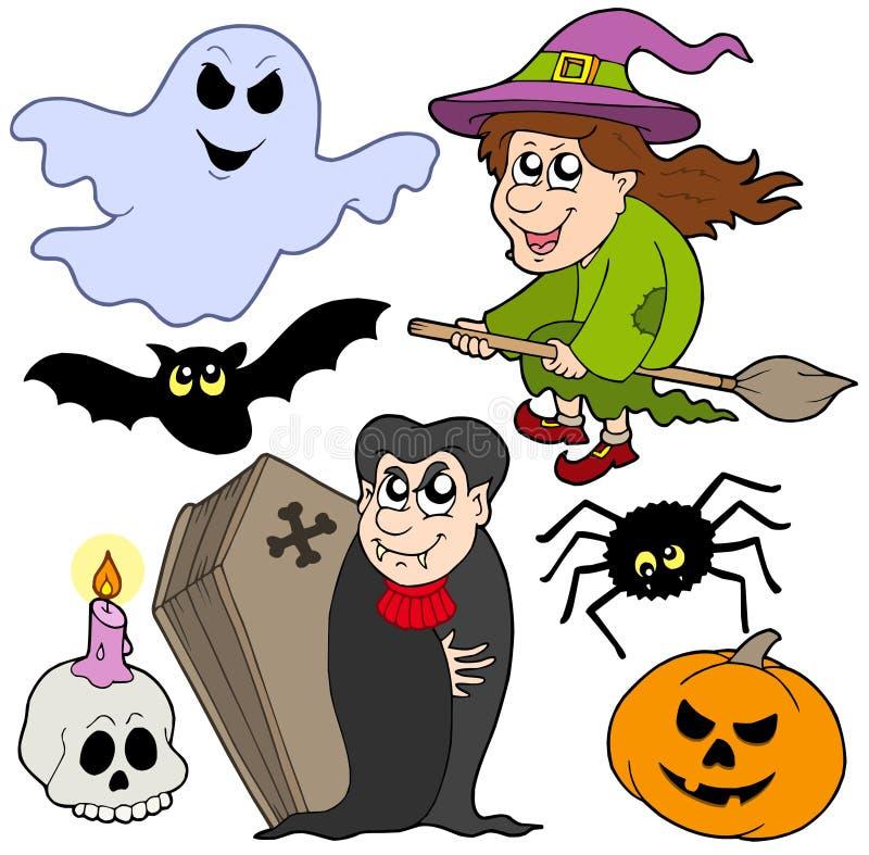 Varie immagini 1 di Halloween illustrazione vettoriale