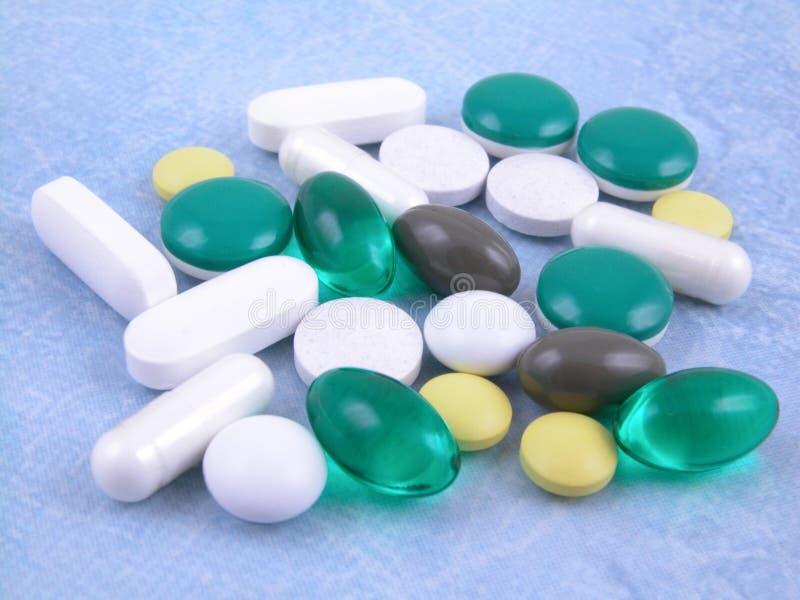 Varie pillole fotografia stock libera da diritti