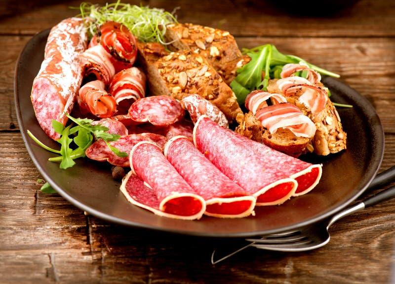 Varie salsiccie immagini stock