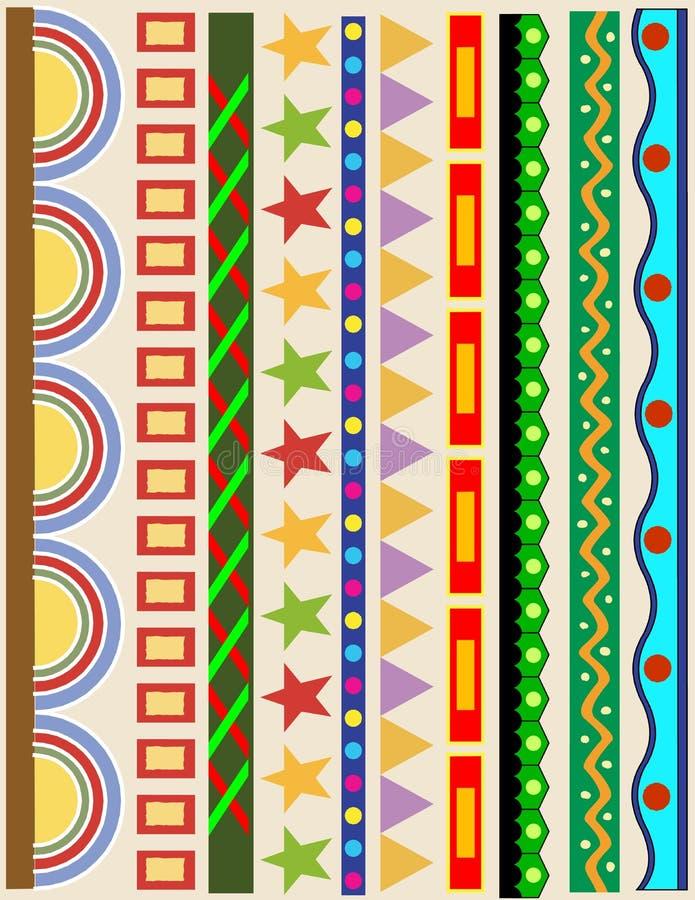 Varie strisce laterali di colore illustrazione di stock