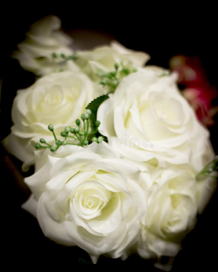 Varied flowers of colors for wedding decoration. No people stock photography