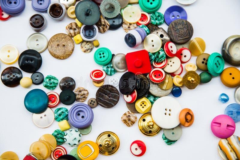 Variedad de botones del vintage foto de archivo