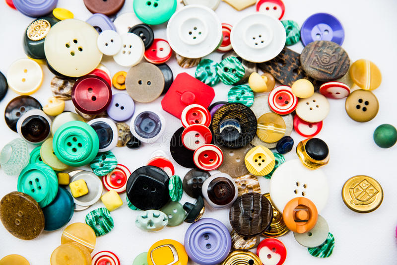 Variedad de botones del vintage imagen de archivo
