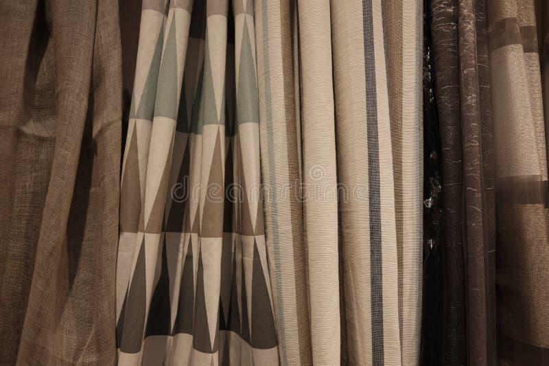 Variedad de cortinas imagen de archivo