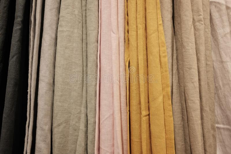 Variedad de cortinas imagenes de archivo