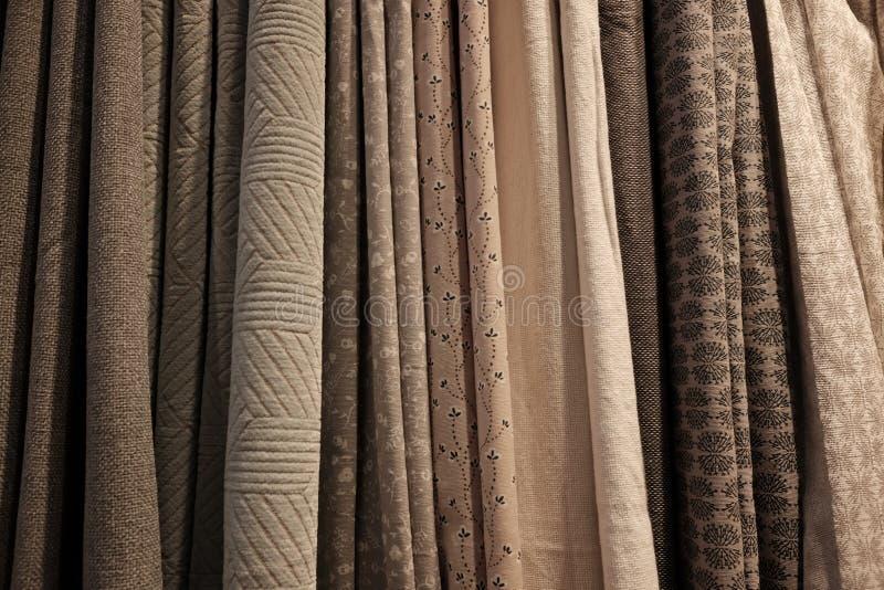 Variedad de cortinas imágenes de archivo libres de regalías
