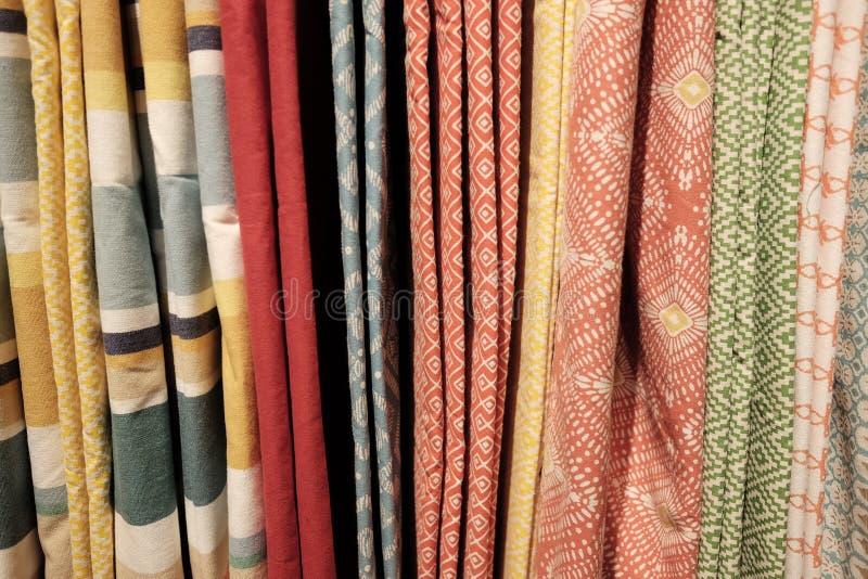 Variedad de cortinas fotos de archivo libres de regalías
