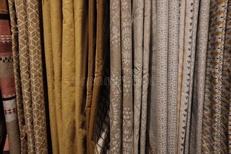 Variedad de cortinas fotografía de archivo libre de regalías