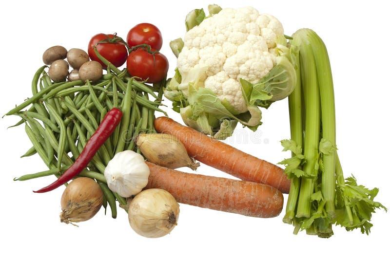 Variedad de diversas verduras imágenes de archivo libres de regalías