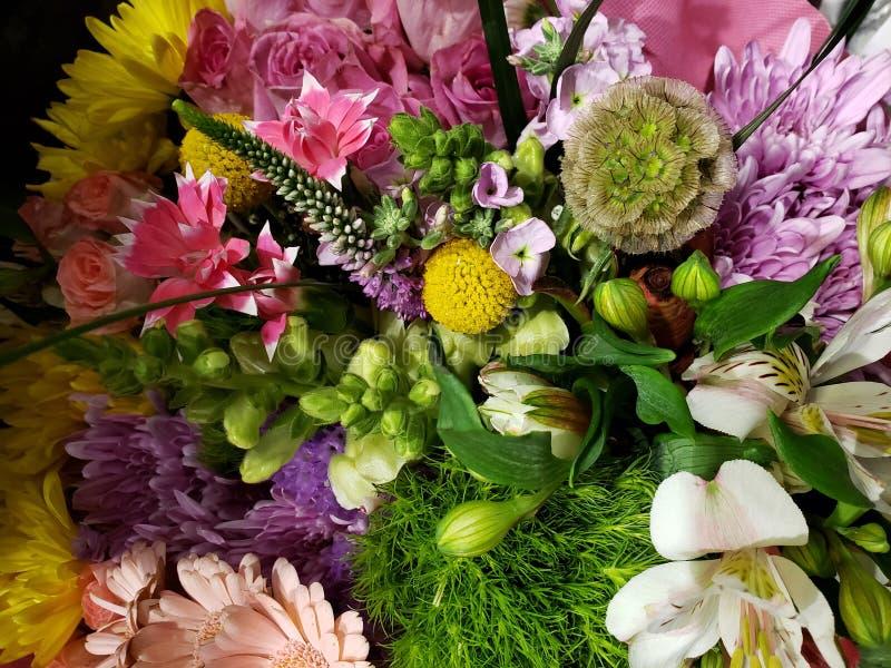 variedad de flor en un ramo floral para el regalo del amor, del fondo y de la textura fotografía de archivo libre de regalías