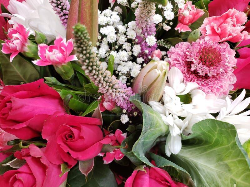variedad de flor en un ramo floral para el regalo del amor, del fondo y de la textura foto de archivo libre de regalías