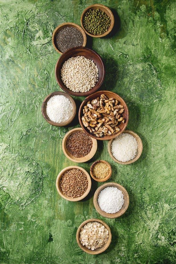 Variedad de granos foto de archivo libre de regalías