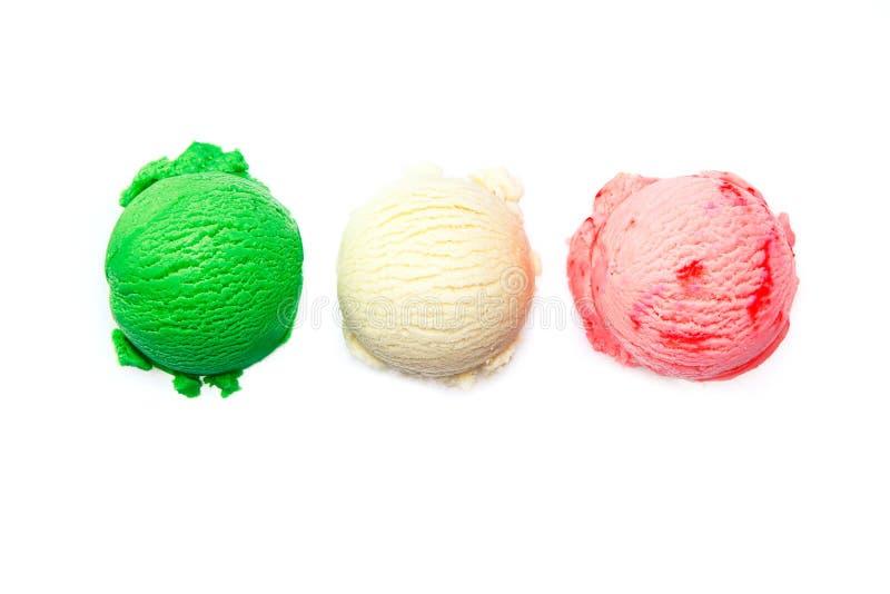 Variedad de helados italianos imagen de archivo
