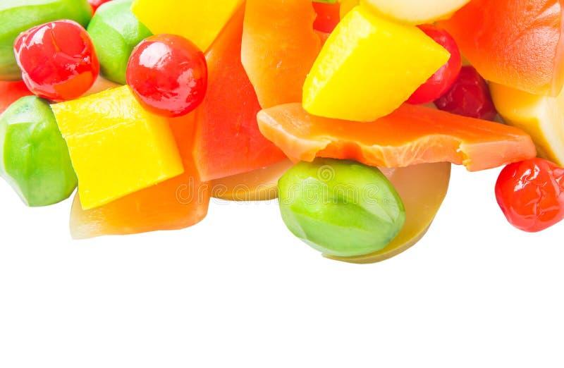 Variedad de la mezcla de la fruta conservada en vinagre IV fotos de archivo