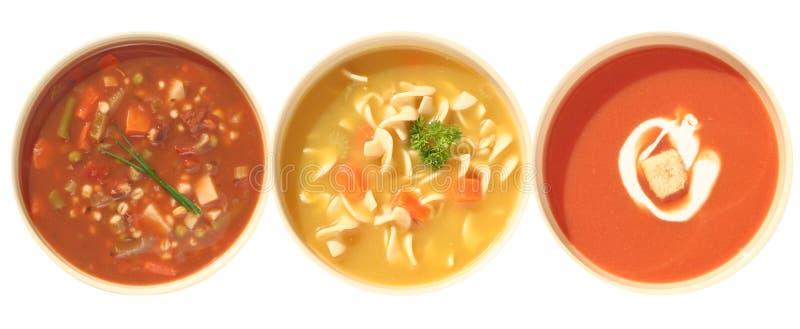 Variedad de la sopa imágenes de archivo libres de regalías