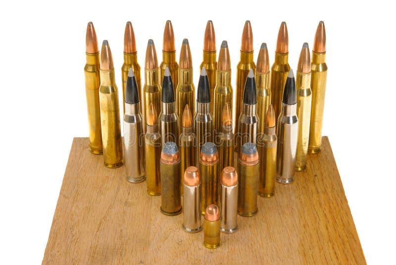 Variedad de munición imagen de archivo