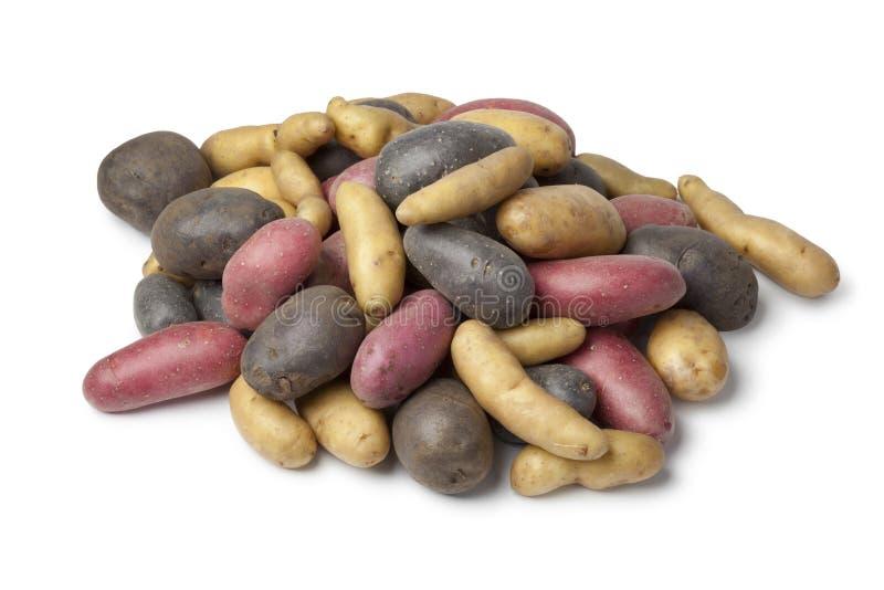 Variedad de patatas de la herencia imagen de archivo