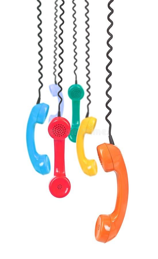 Variedad de receptores de teléfono foto de archivo libre de regalías