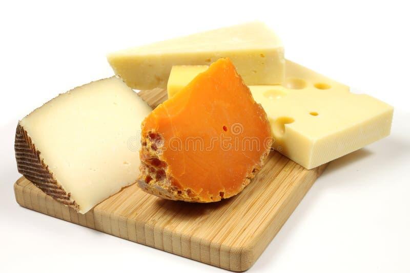 Variedad del queso fotografía de archivo