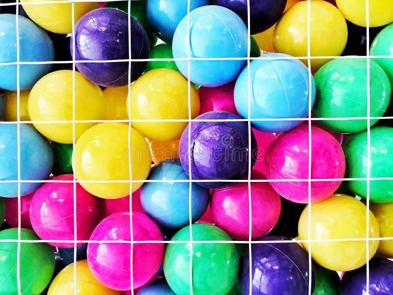Variedad plástica de las bolas de colores imagen de archivo libre de regalías