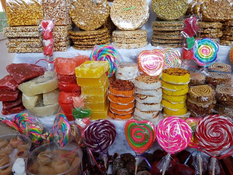 variedad regional típica de los dulces de la ciudad de Toluca fotografía de archivo