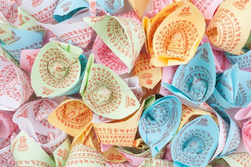 Variedade colorida do papel de Joss imagens de stock