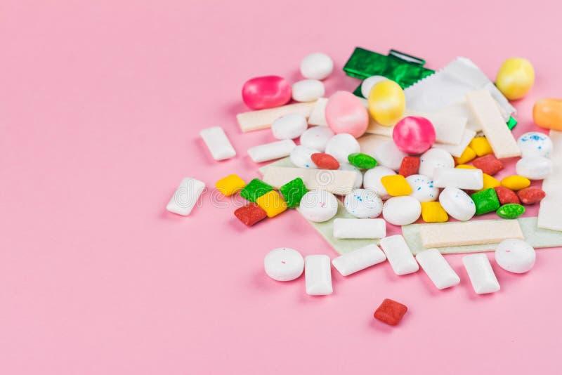 Variedade da pastilha elástica fotografia de stock