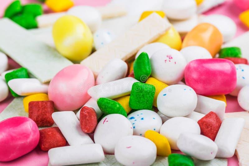 Variedade da pastilha elástica fotos de stock