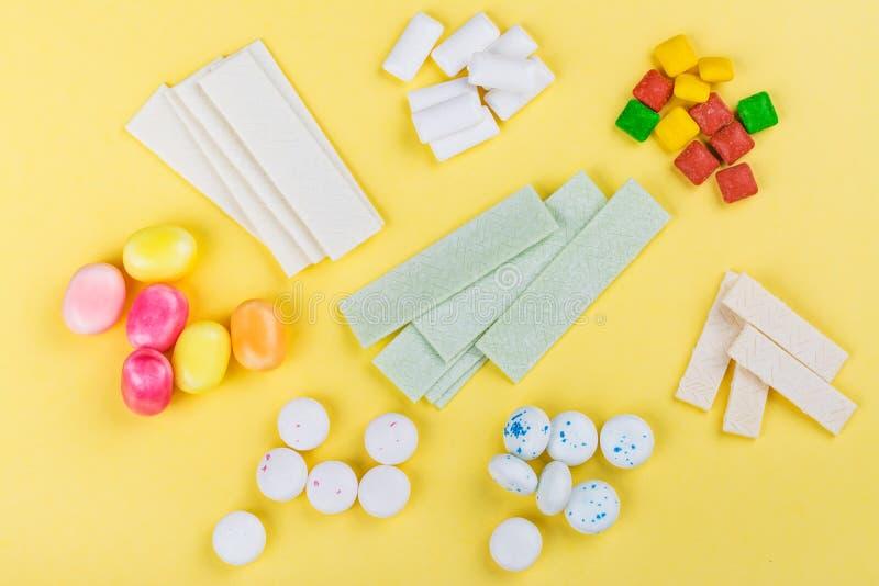 Variedade da pastilha elástica imagens de stock