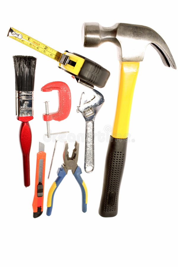 Variedade das ferramentas fotografia de stock