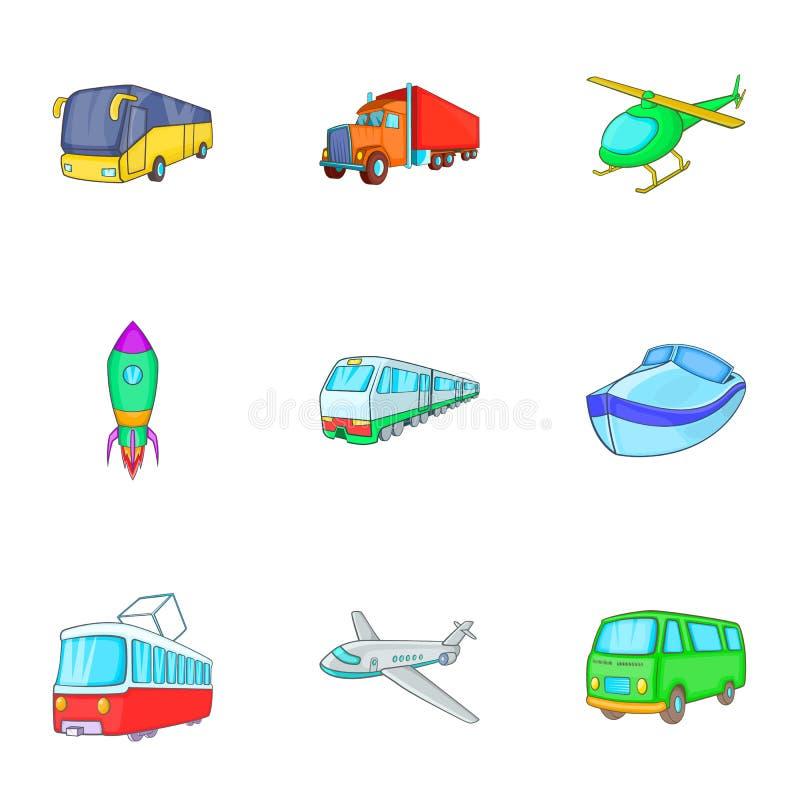 Download A Variedade De ícones Do Transporte Ajustou-se, Estilo Dos Desenhos Animados Ilustração do Vetor - Ilustração de cartoon, indústria: 80101841
