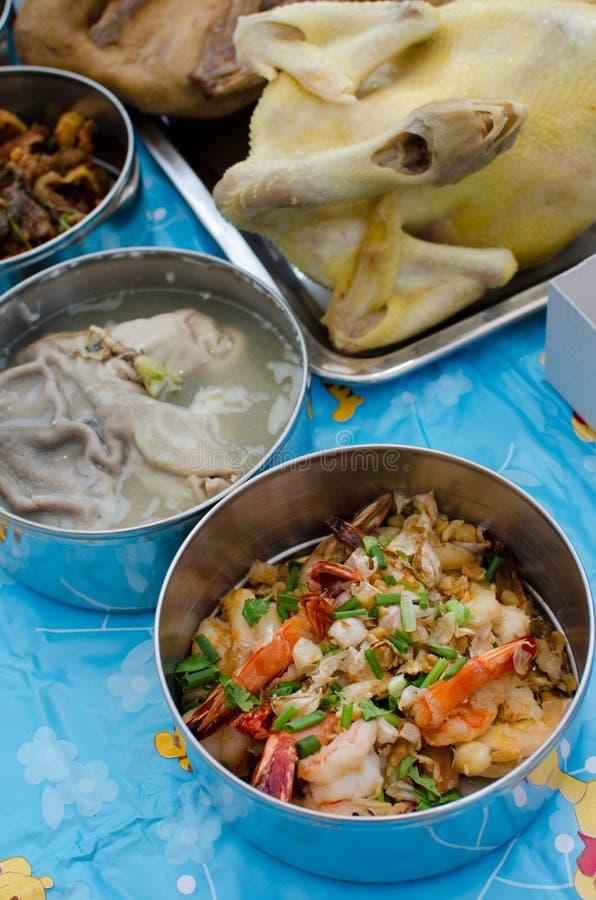 Download Variedade De Alimentos Para A Adoração Ao Antepassado Imagem de Stock - Imagem de asian, carne: 29847415