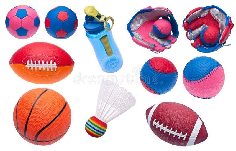 A variedade de brinquedo ostenta objetos imagem de stock royalty free