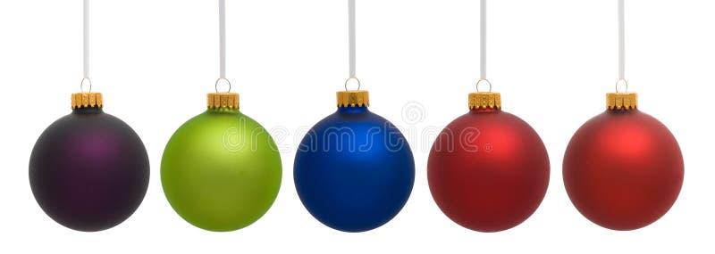 Variedade de cinco ornamento do Natal fotos de stock