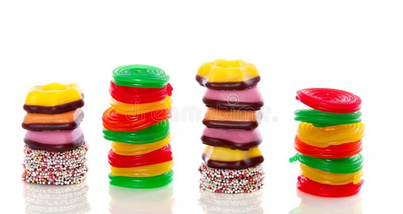 Variedade de doces doces imagens de stock