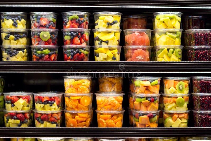Variedade de fruta cortada fotos de stock royalty free