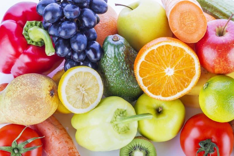 Variedade de frutas e legumes exóticas foto de stock royalty free